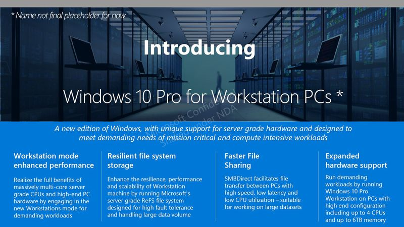 Installare Windows 10 Pro for Workstations